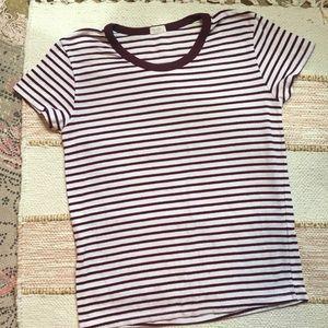 John Galt Brandy Melville Nadine Stripe T-shirt